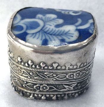Flowers Vase Trinket Box Hand Painted Flowers Vase Jewelry Box with Crystals