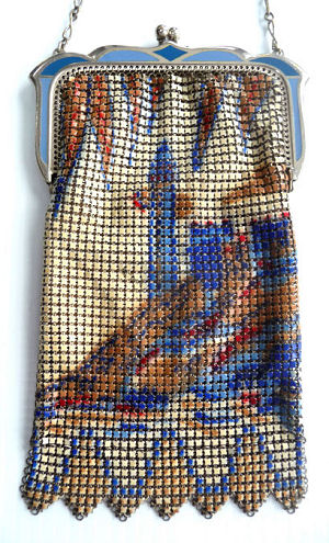 whiting and davis mesh purses